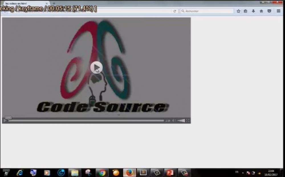 Insertion de video en Html