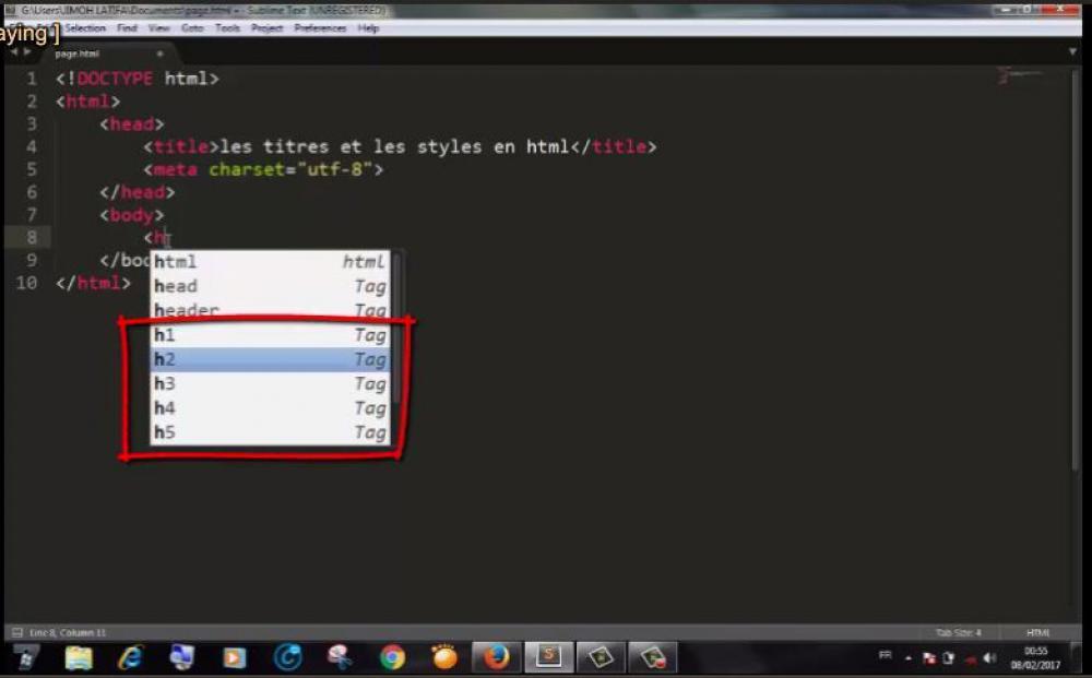 Les style en html