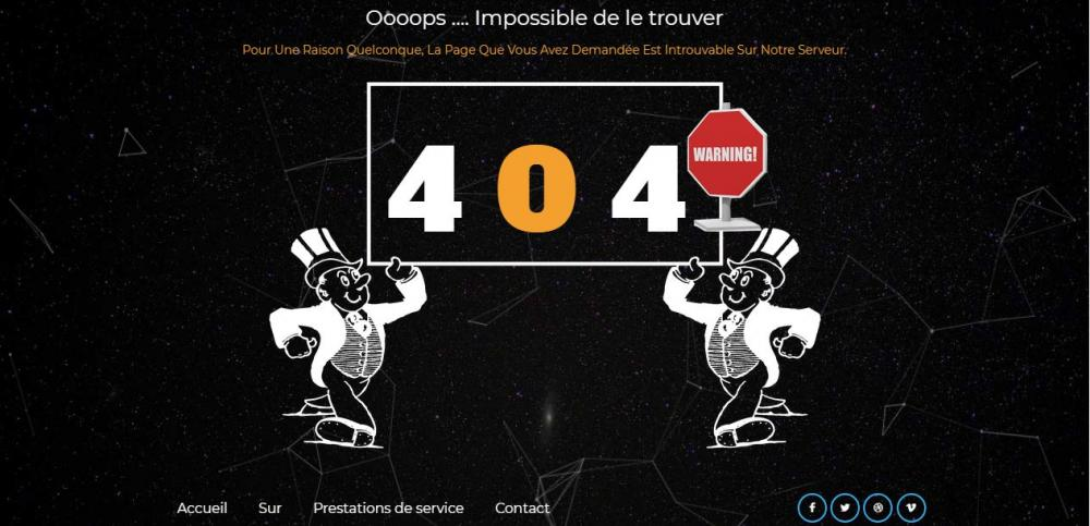 Les  templates 404 du moments