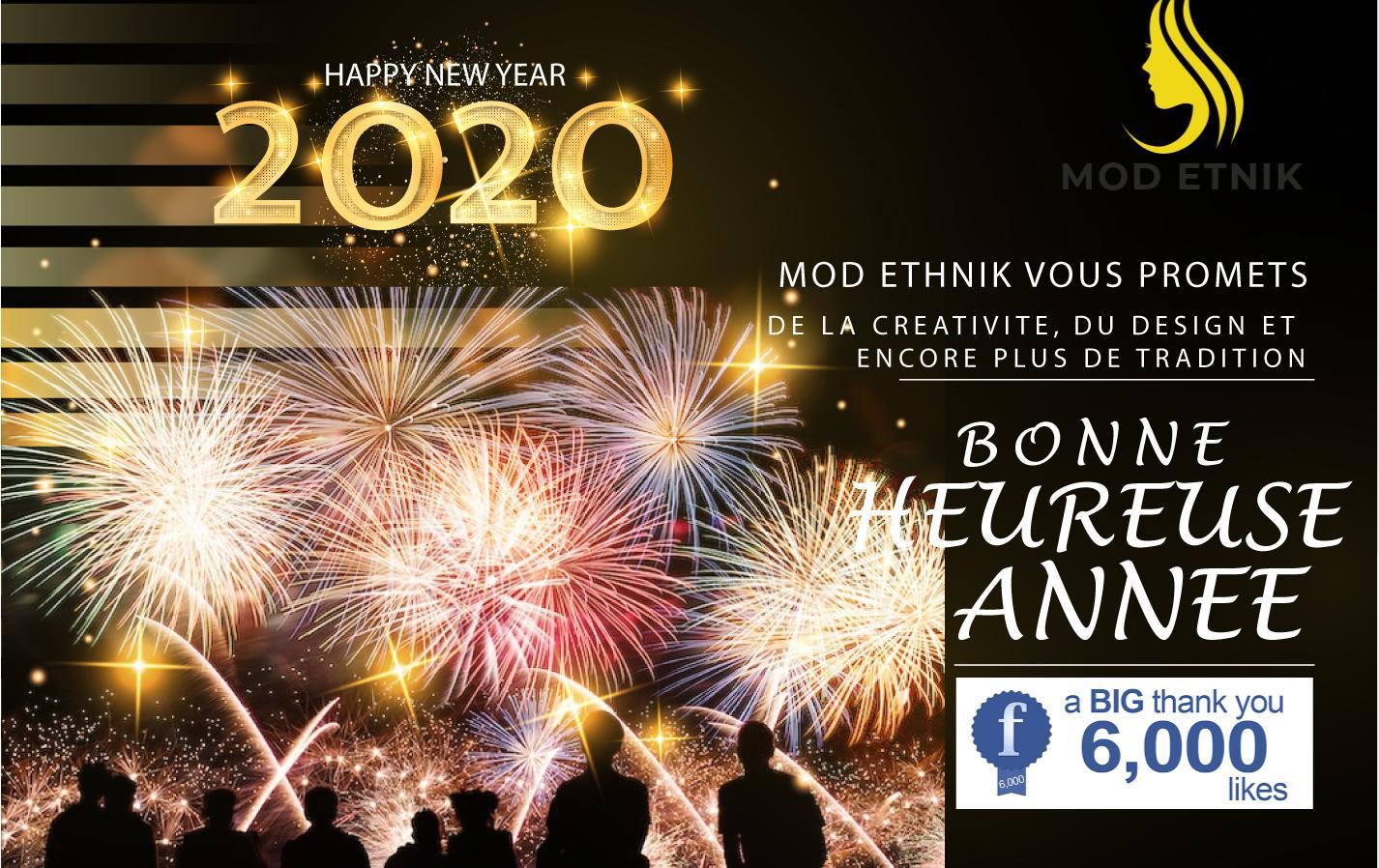 Bannière nouvelle année Mod Etnik