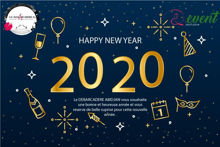 Bannière nouvelle année Debarcadere Event
